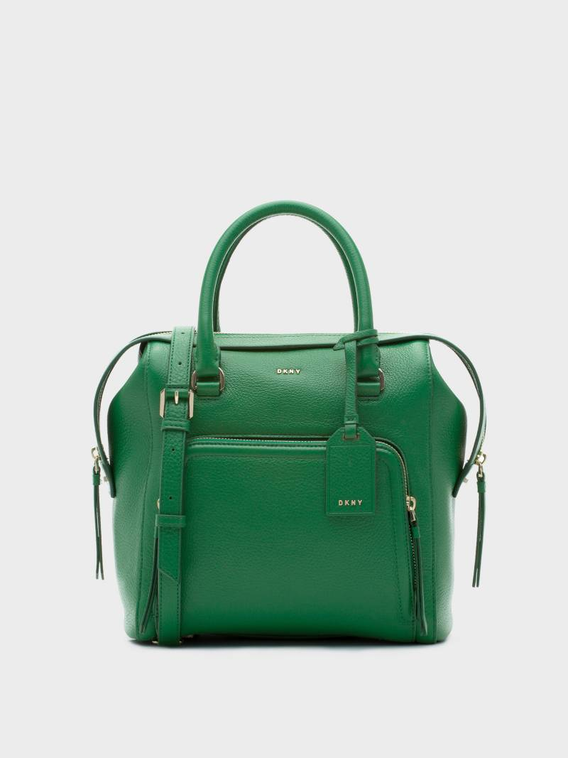 BOLSOS DE DKNY: Pebbled Leather Satchel