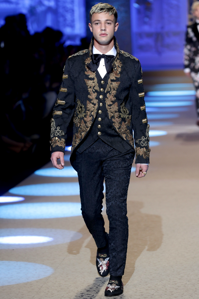 cameron dallas, milan men's fashion week, dolce and gabbana