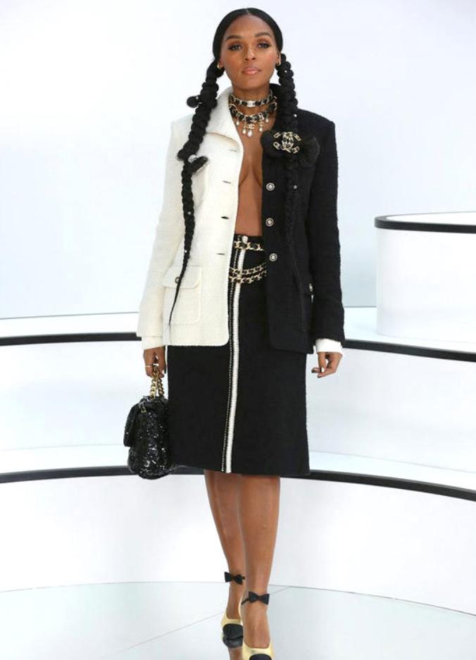 Janelle Monáe en el Chanel Fashion en la ciudad de París 2