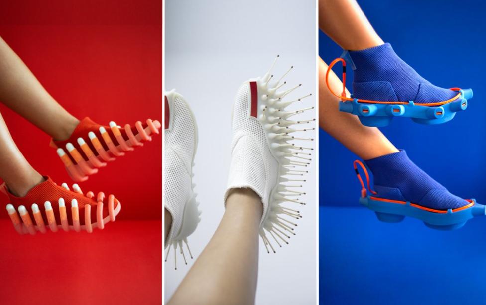Los zapatos diseñados por Netha Goldberg son raros de cojones pero prácticos... 2