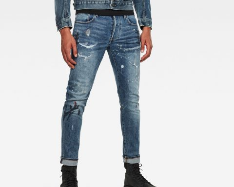 pantalón hombre g-star: Jeans 3301 Slim Azul claro 45