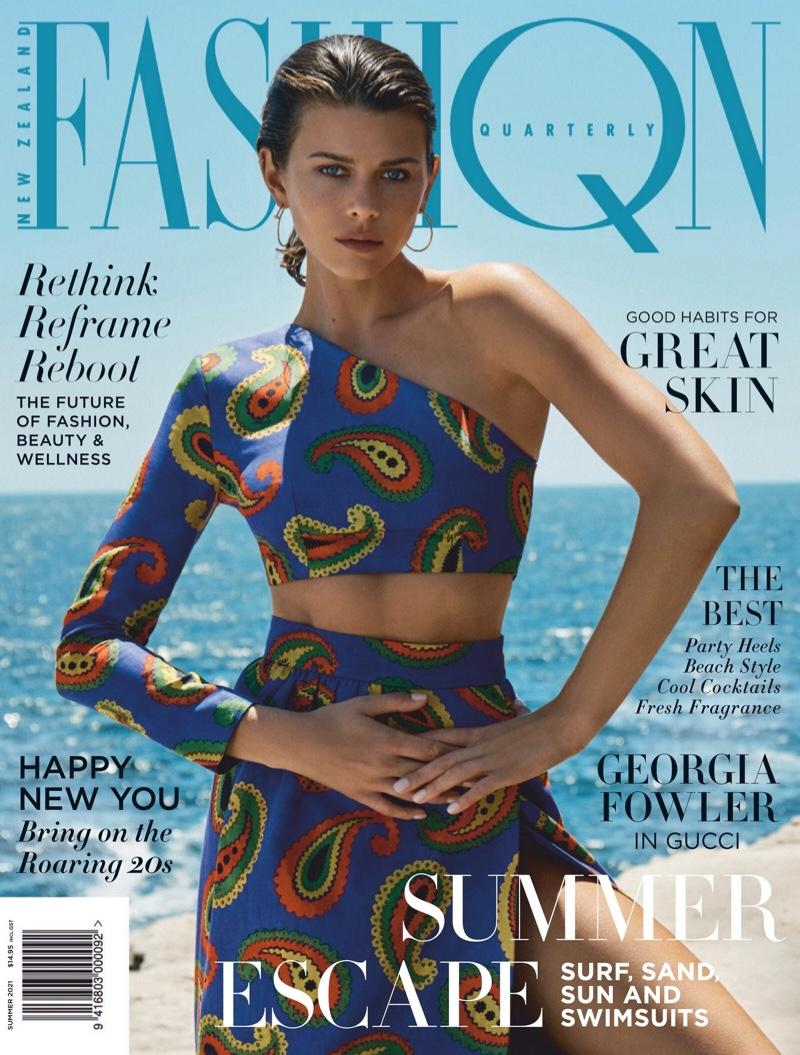 Georgia Fowler sobresale en la portada del Fashion Quarterly New Zealand Summer 2021 8